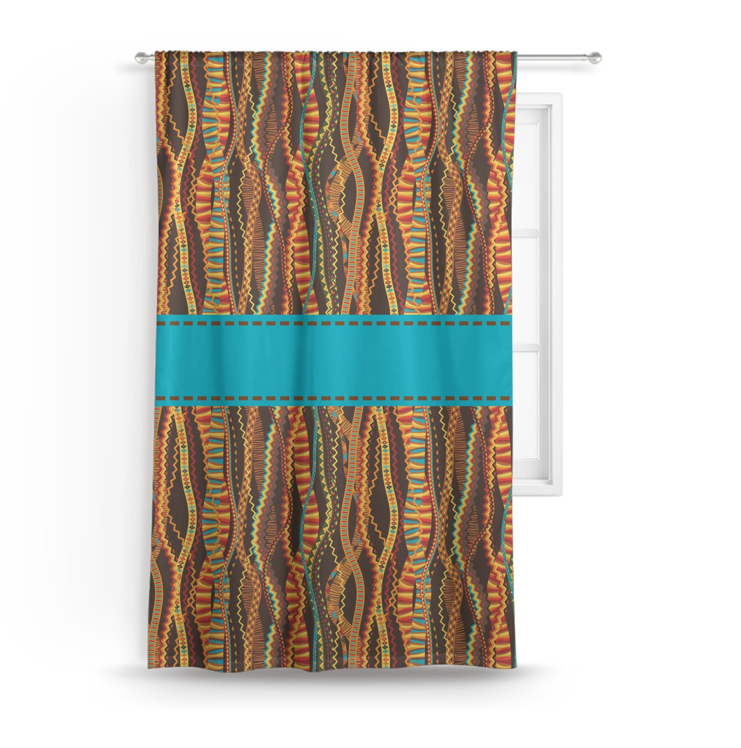 Tribal Ribbons Curtain (Personalized)