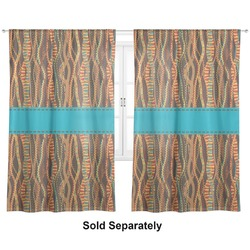 "Tribal Ribbons Curtains - 20""x84"" Panels - Lined (2 Panels Per Set) (Personalized)"