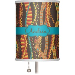 """Tribal Ribbons 7"""" Drum Lamp Shade (Personalized)"""