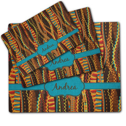 Tribal Ribbons Dog Food Mat w/ Name or Text