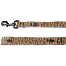Tribal Ribbons Deluxe Dog Leash - 4 ft (Personalized)