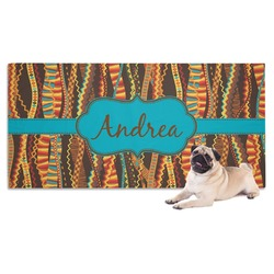 Tribal Ribbons Pet Towel (Personalized)