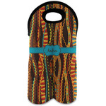 Tribal Ribbons Wine Tote Bag (2 Bottles) (Personalized)