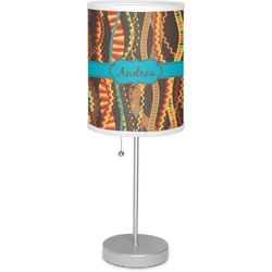 """Tribal Ribbons 7"""" Drum Lamp with Shade (Personalized)"""