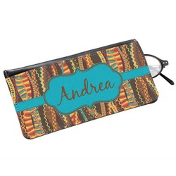 Tribal Ribbons Genuine Leather Eyeglass Case (Personalized)