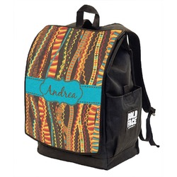 Tribal Ribbons Backpack w/ Front Flap  (Personalized)