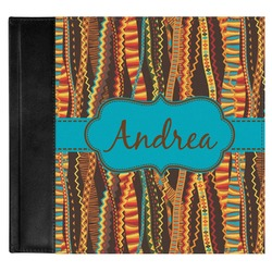 Tribal Ribbons Genuine Leather Baby Memory Book (Personalized)
