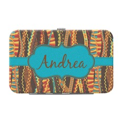 Tribal Ribbons Genuine Leather Small Framed Wallet (Personalized)