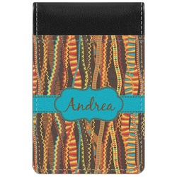 Tribal Ribbons Genuine Leather Small Memo Pad (Personalized)
