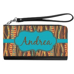 Tribal Ribbons Genuine Leather Smartphone Wrist Wallet (Personalized)