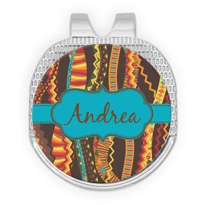 Tribal Ribbons Golf Ball Marker - Hat Clip - Silver