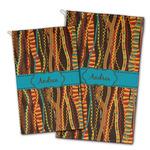 Tribal Ribbons Golf Towel - Full Print w/ Name or Text