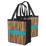 Tribal Ribbons Grocery Bag (Personalized)