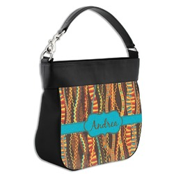 Tribal Ribbons Hobo Purse w/ Genuine Leather Trim (Personalized)