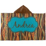 Tribal Ribbons Kids Hooded Towel (Personalized)
