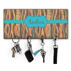 Tribal Ribbons Key Hanger w/ 4 Hooks (Personalized)