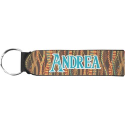 Tribal Ribbons Neoprene Keychain Fob (Personalized)