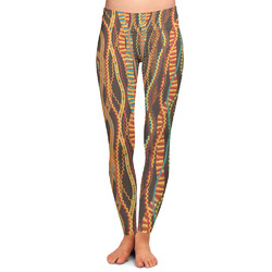 Tribal Ribbons Ladies Leggings - Large (Personalized)