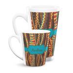 Tribal Ribbons Latte Mug (Personalized)