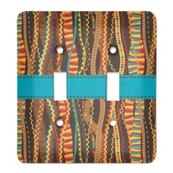 Tribal Ribbons Light Switch Cover (2 Toggle Plate) (Personalized)