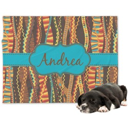 Tribal Ribbons Dog Blanket (Personalized)