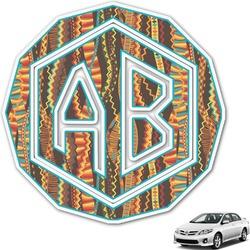 Tribal Ribbons Monogram Car Decal (Personalized)