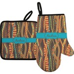Tribal Ribbons Oven Mitt & Pot Holder (Personalized)