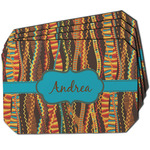 Tribal Ribbons Dining Table Mat - Octagon w/ Name or Text