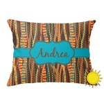 Tribal Ribbons Outdoor Throw Pillow (Rectangular) (Personalized)