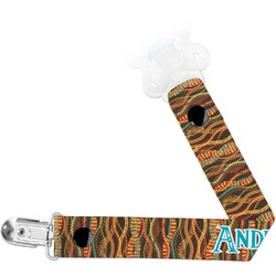 Tribal Ribbons Pacifier Clips (Personalized)