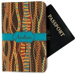 Tribal Ribbons Passport Holder - Fabric (Personalized)