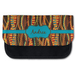Tribal Ribbons Canvas Pencil Case w/ Name or Text
