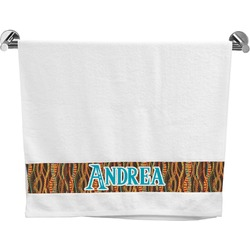 Tribal Ribbons Bath Towel (Personalized)