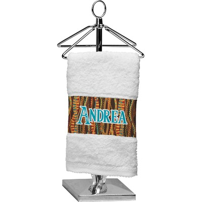 Tribal Ribbons Cotton Finger Tip Towel (Personalized)
