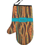 Tribal Ribbons Left Oven Mitt (Personalized)