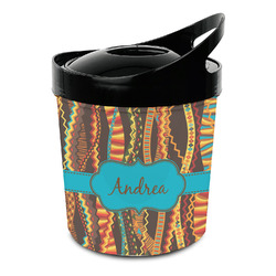 Tribal Ribbons Plastic Ice Bucket (Personalized)