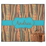 Tribal Ribbons Outdoor Picnic Blanket (Personalized)