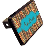 """Tribal Ribbons Rectangular Trailer Hitch Cover - 2"""" (Personalized)"""