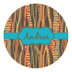 Tribal Ribbons Round Decal (Personalized)