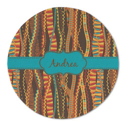 Tribal Ribbons Round Linen Placemat (Personalized)