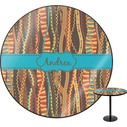 Tribal Ribbons Round Table (Personalized)