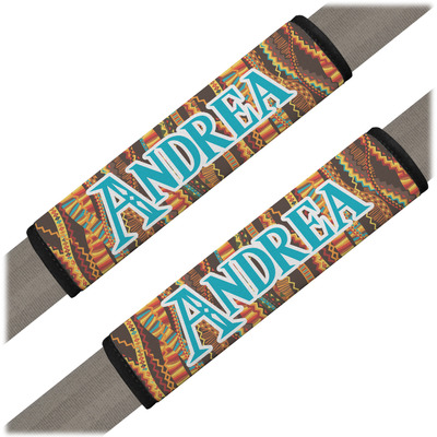 Tribal Ribbons Seat Belt Covers (Set of 2) (Personalized)