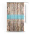 Tribal Ribbons Sheer Curtains (Personalized)