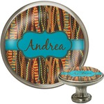 Tribal Ribbons Cabinet Knob (Silver) (Personalized)