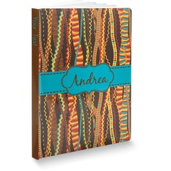 """Tribal Ribbons Softbound Notebook - 7.25"""" x 10"""" (Personalized)"""
