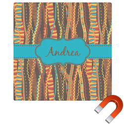 Tribal Ribbons Square Car Magnet (Personalized)