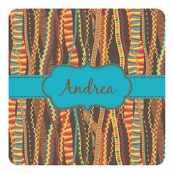 Tribal Ribbons Square Decal - Custom Size (Personalized)