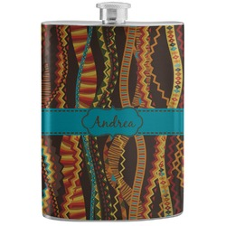 Tribal Ribbons Stainless Steel Flask (Personalized)