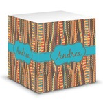 Tribal Ribbons Sticky Note Cube (Personalized)