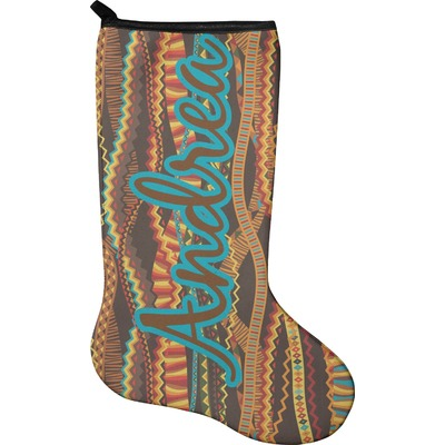 Tribal Ribbons Holiday Stocking - Neoprene (Personalized)